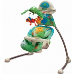 "Fisher Price ""Джунгли"" шезлонг-качалка"
