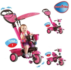 Велосипед трехколёсный Smart Trike DeLuxe ZOO-Collection, цвет Butterfly Pink - розовый