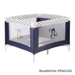 Детский манеж Bertoni Play Station, цвет blue&white penguin