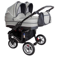 Коляска для двойни Zekiwa Sport Duo New Line 2 в 1, цвет Light grey