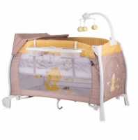 Кроватка-манеж Bertoni I`Lounge 2L Rocker, цвет beige-yellow my baby