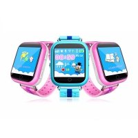 Детские GPS часы-телефон Smart Baby Watch Q100 pink, blue