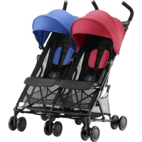 Коляска для двойни Britax Holiday Double, цвет Red/Blue Mix