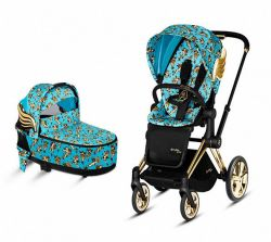 Коляска 2 в 1 Cybex Priam Lux Jeremy Scott Cherub Blue