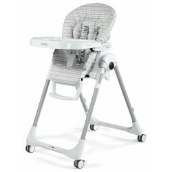 Стільчик для годування Peg-Perego Prima Pappa Follow Me Linear Grey