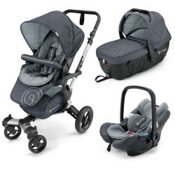 Коляска 3 в 1 Concord Neo Travel Set, цвет Steel Grey